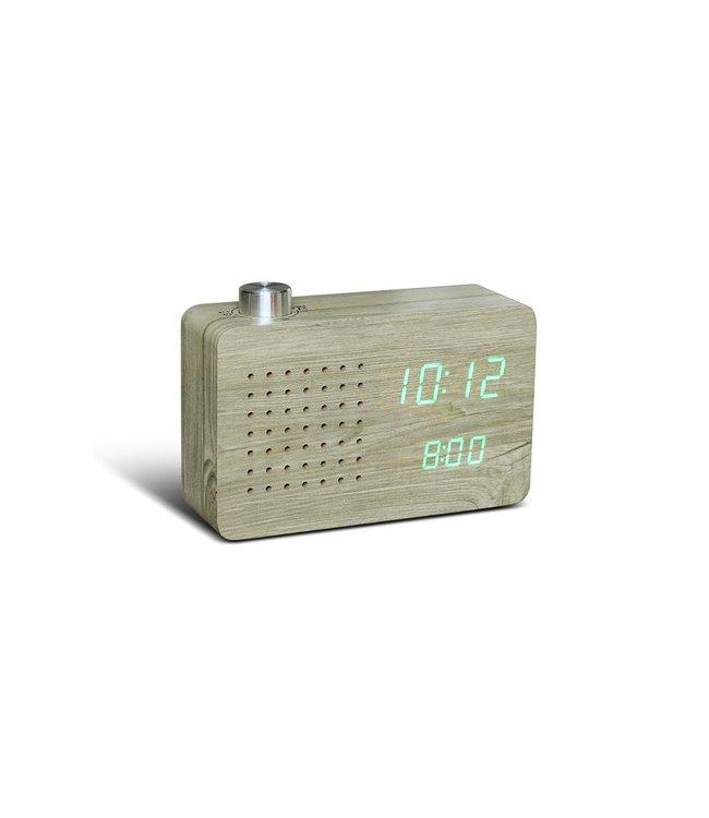 Ash Radio Click Clock Green Led