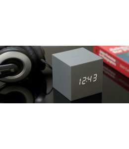 Gravity Cube Grey Click Clock