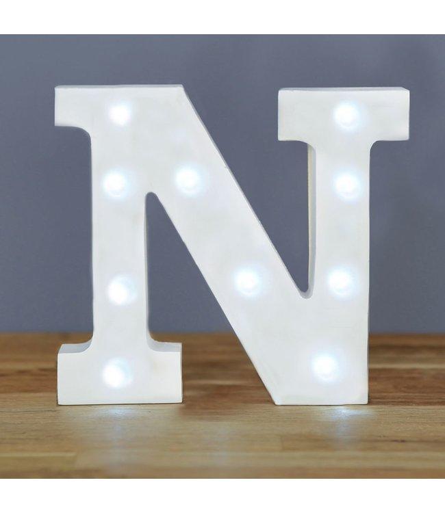 Up in Lights Letter N