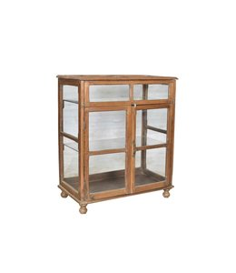 Original Teak Glazed Display Cabinet
