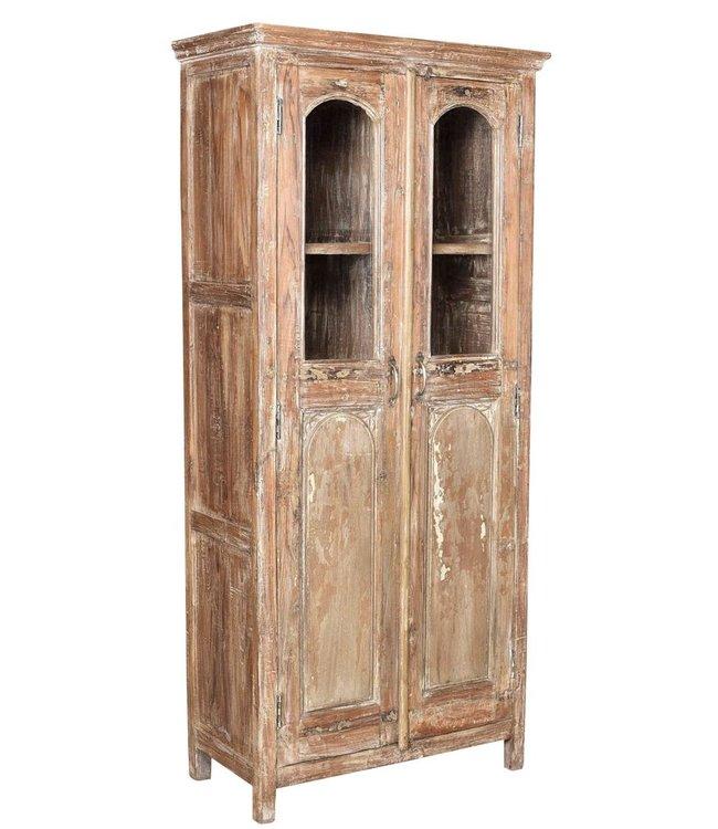 Glazed Reclaimed Teak Cabinet