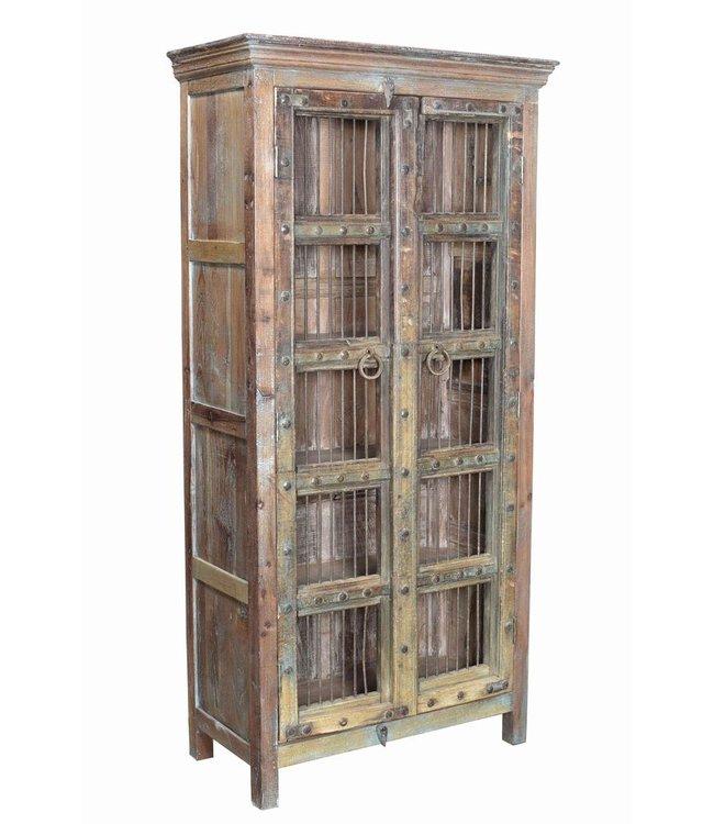 Old Jali Door Cabinet