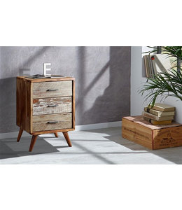Zen Acacia Three Drawer Cabinet