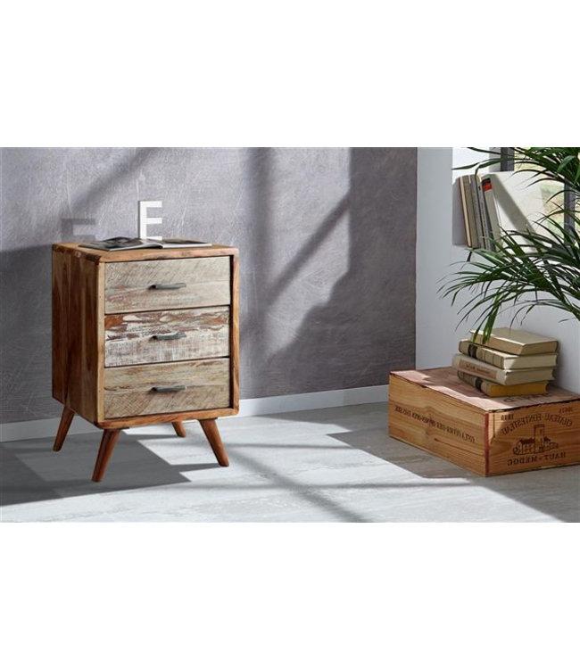 Zen Acacia Three Drawer Cabinet