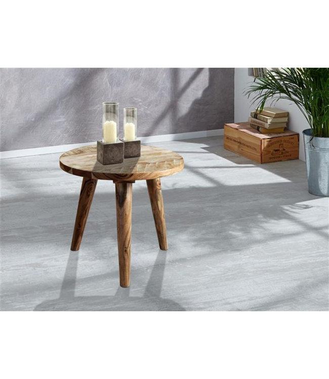 Zen Acacia Round Side Table