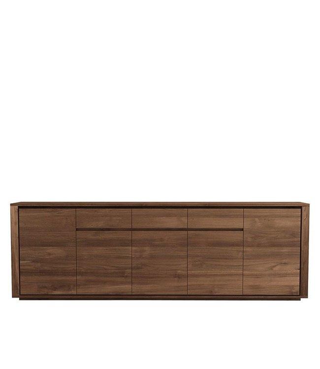 Teak Elemental sideboard - 5 doors / 3 drawers - FSC 100%  - New