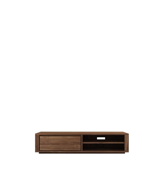Teak Elemental TV cupboard - 1 drawer  - FSC 100% - New