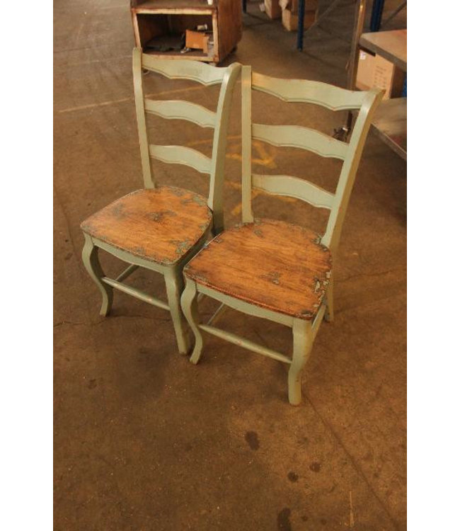Chinese Furniture Pale Green Dining Chairs