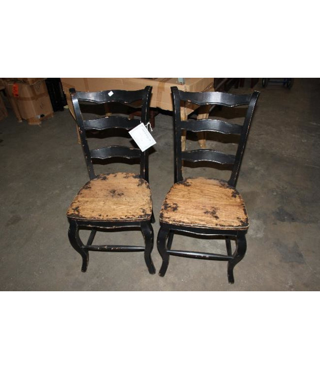 Black Oak Dining Chairs