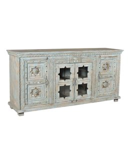 Hand Painted Mughal Star Sideboard