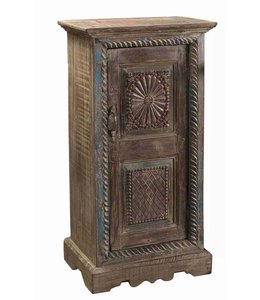 Small Carved Front Side Cabinet