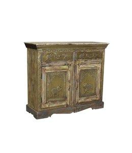 Brass Elephant Cabinet