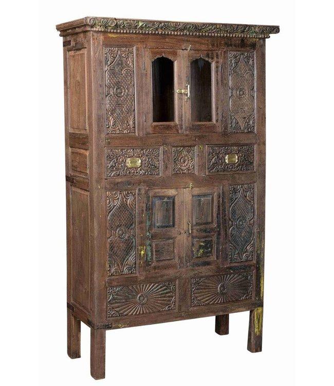 Rare Carved Teak Cabinet