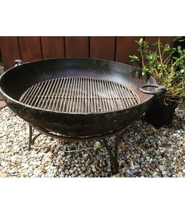 Original Iron Kadai with Stand and Grill