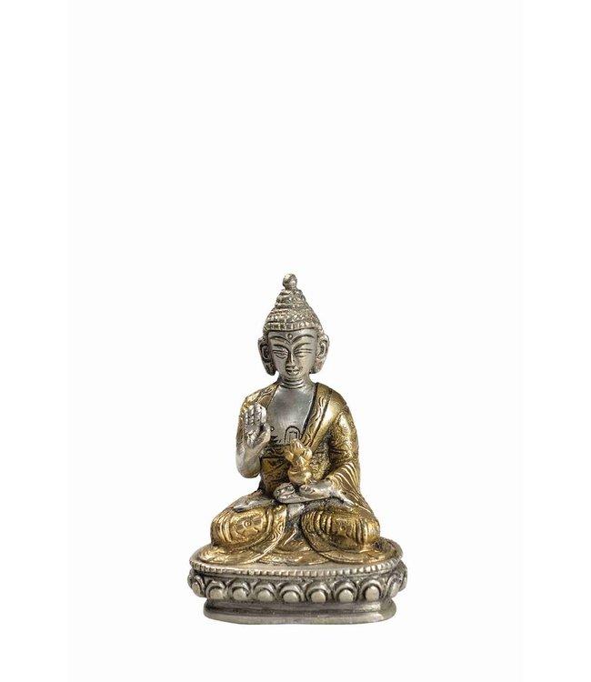 Two Tone Brass Buddha Statue