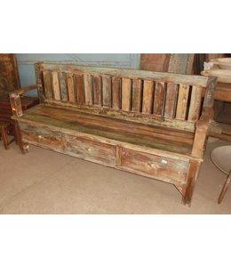 Reclaimed Teak Bench