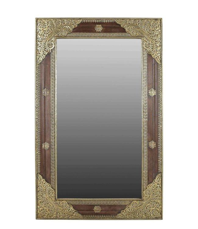 Teak and Brass Mirror