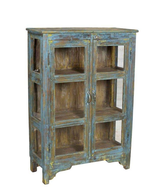 Small Glazed Teak Cabinet