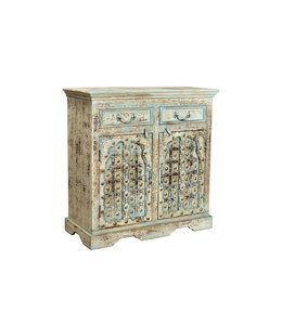 India - Old Furniture Beautiful Carved Two Door Sideboard