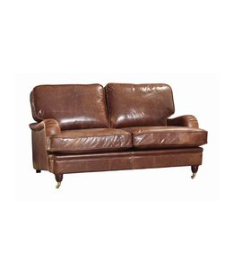 Winston Leather & Wool Sofa 3 Seater