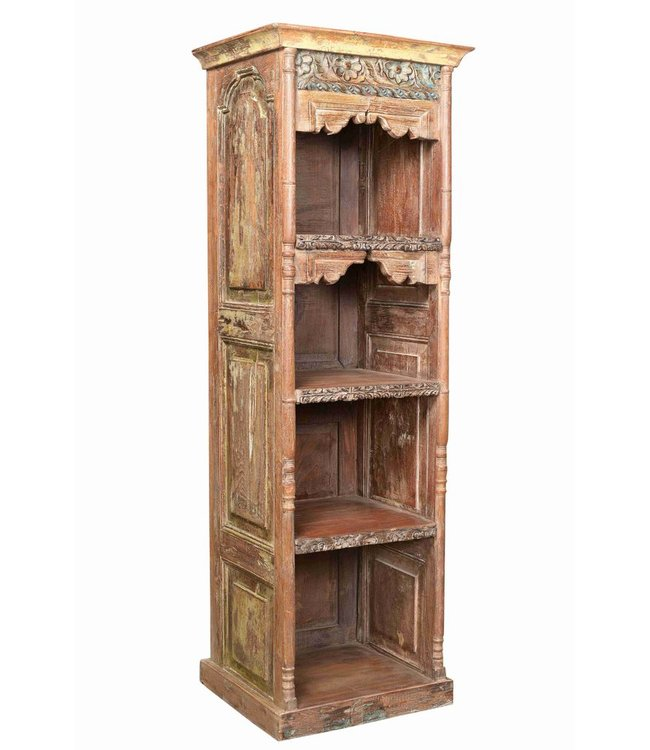 Beautiful Carved Shelf Display Cabinet