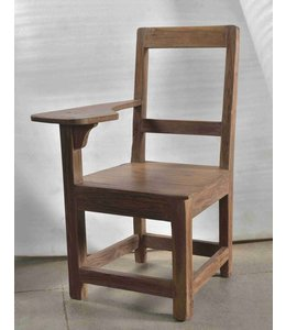 Wooden Chair with notepad rest