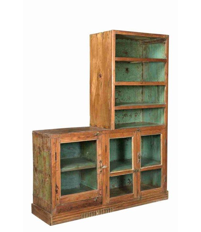 Glazed storage cabinet