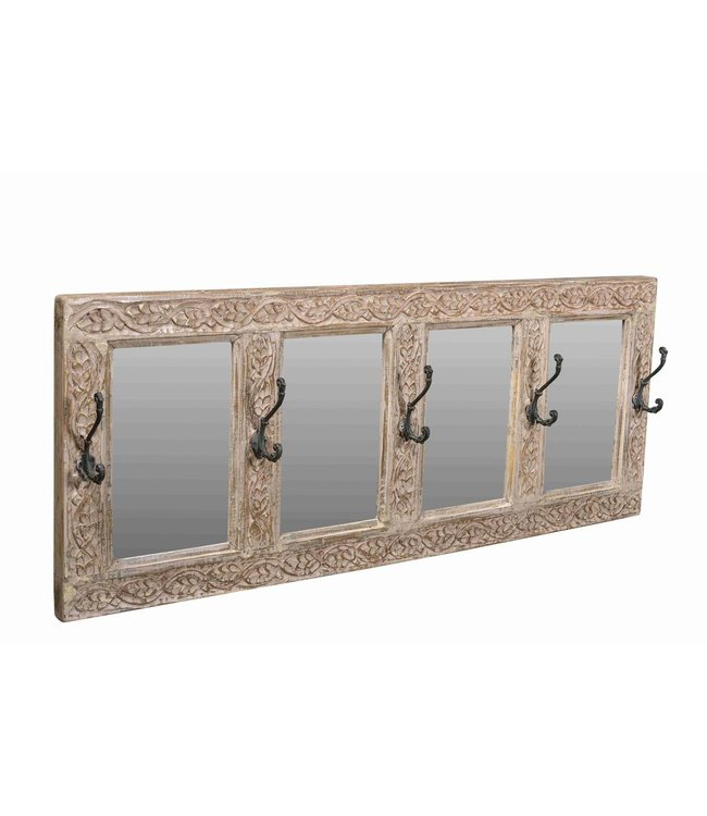 Coat Hooks with Mirrors