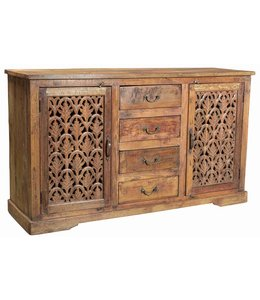 Four Drawer Sideboard with Jali Doors