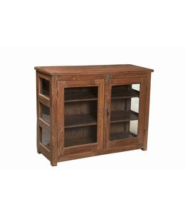Glazed Teak Cabinet