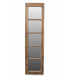 Teak Frame Mirror