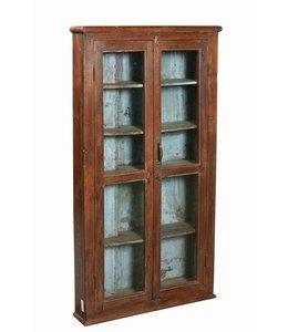 Antique Glazed Teak Cabinet