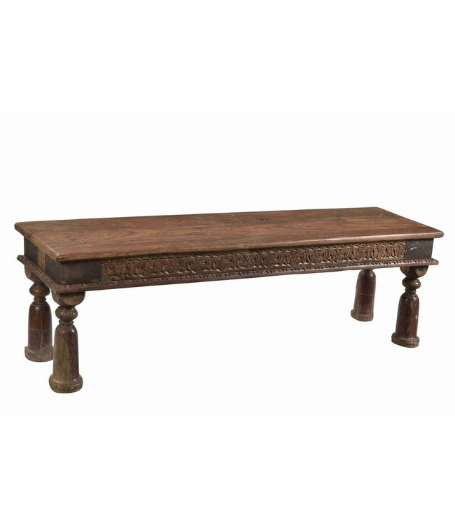 Narrow Carved Coffee Table