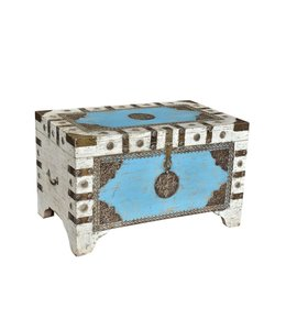 Brass Embellished Painted Chest