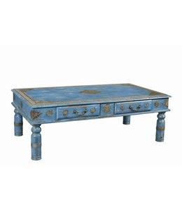 Beautiful Hand Painted Coffee Table with 2 Drawers