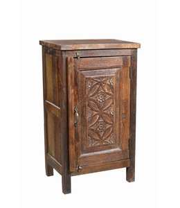 Bedside Cabinet with Old Carved Door