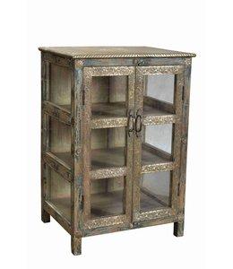 Brass Embelished Display Cabinet