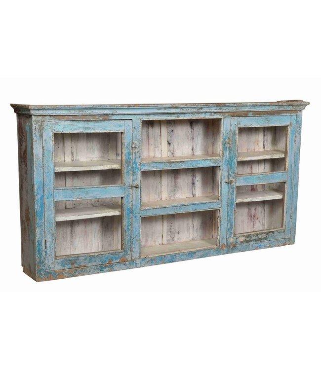 Glazed Vintage Wall Cabinet