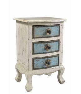 Painted 3 Drawer Cabinet