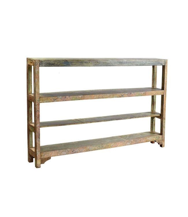 Wood Rack with 4 Shelves