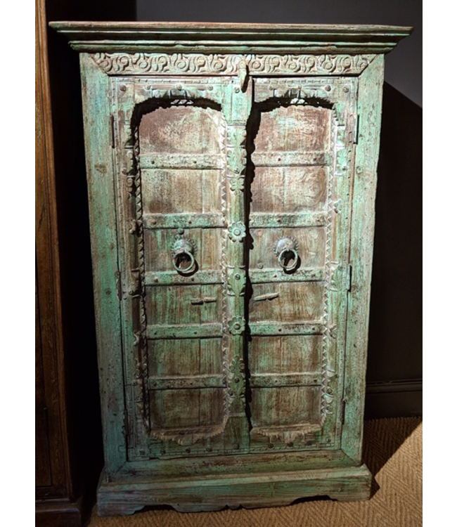 Large Painted Wooden Cabinet