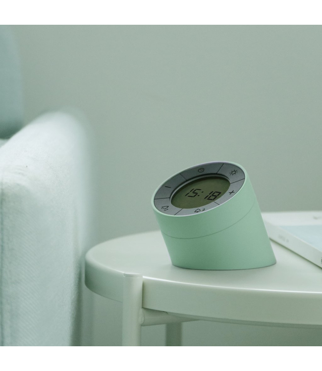 The Edge Light Alarm Clock - Green