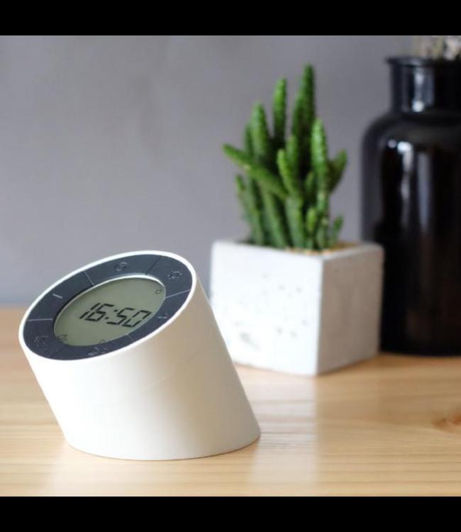 The Edge Light Alarm Clock - White