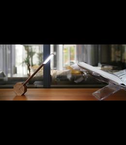 Octagon One Desk Light Walnut