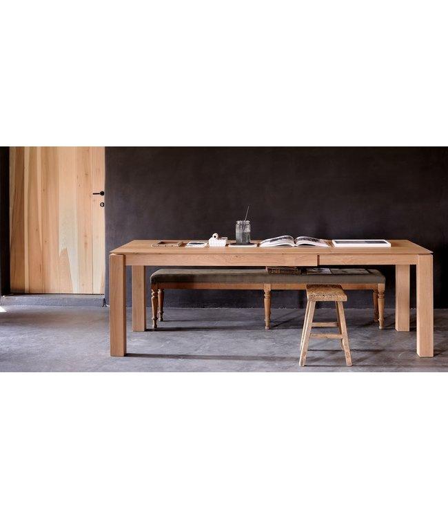Oak Slice Extendable Dining Table160cms - 240cms