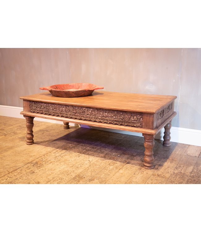 Coffee Table with Side Carving