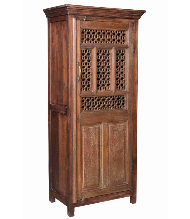 Single Door Cabinet with Jali Carving
