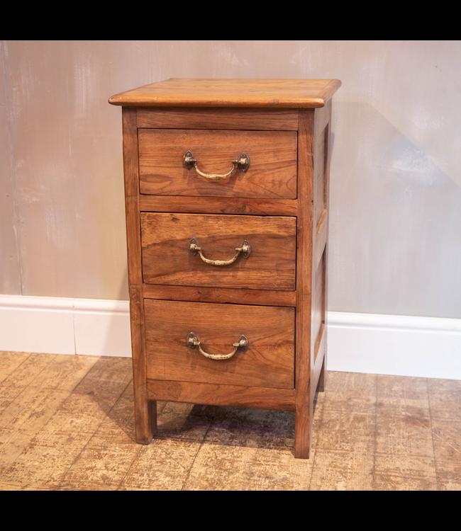 Reclaimed Teak Three Drawer Cabinet