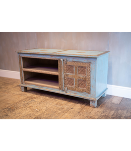 Painted TV Cabinet with Brasswork