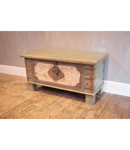 Vintage Style Painted Chest with Brasswork
